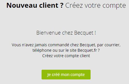 Créer compte client Becquet