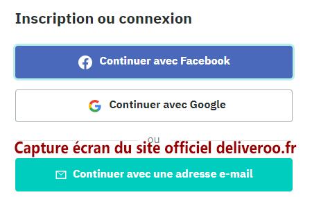 Mon compte client Deliveroo