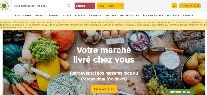 site de marché en ligne