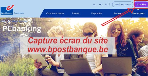 connexion à mon compte bpost pc banking