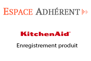 Enregistrer produit kitchenaid