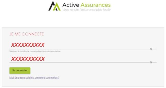 connexion espace client active assurances