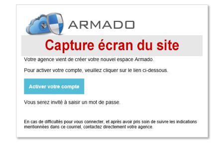 Comment s'inscrire à l'espace de gestion dématérialisé sur armado.fr.