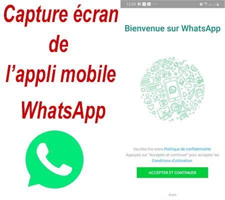 S'insrire sur l'application mobile Whatsapp.