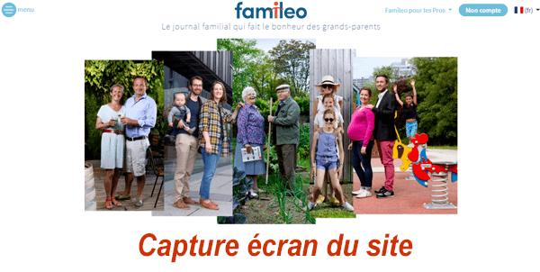 Se connecter à mon compte sur le site Famileo.com