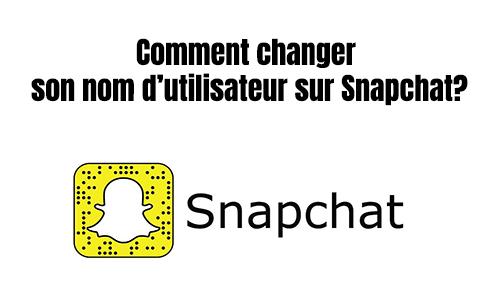 comment changer nom d'utilisateur snap