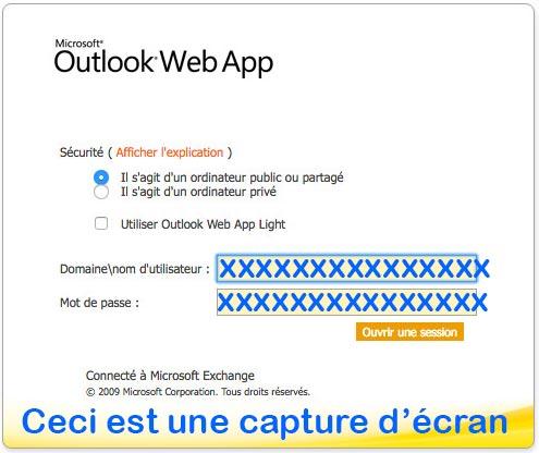 Courriel APHP Outlook web app