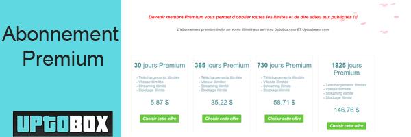 prix abonnement premium uptobox