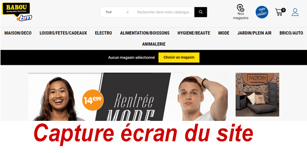 Acheter des articles sur Babou.fr