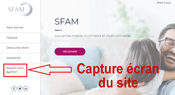 Se connecter à mon espace client SFAM .